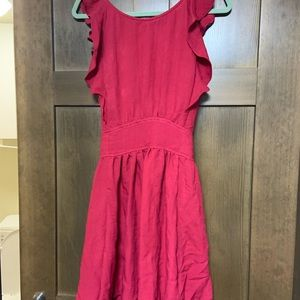 Mustard Seed Dresses - Beautiful red open back dress